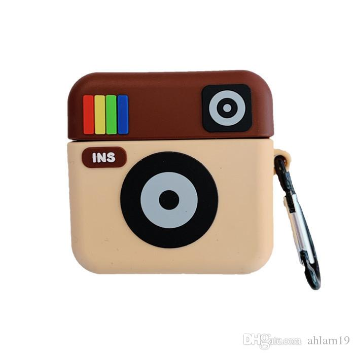 2020 Ins Camera 3d Hard Soft Case For Airpods Pro Protective 3d