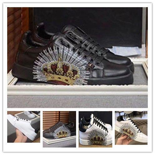 métal personnalisé haut de gamme pointes cloutés chaussures de sport 2017new pour les hommes et les femmes chaussures de sport bas top avec fond mou, 1o99 en cuir véritable