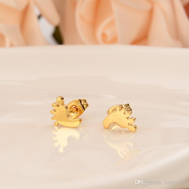 Nuovo 2019 dubai India orecchini placcati oro piccoli orecchini piede matrimonio fidanzamento gioielli regalo gioielli compagno regalo