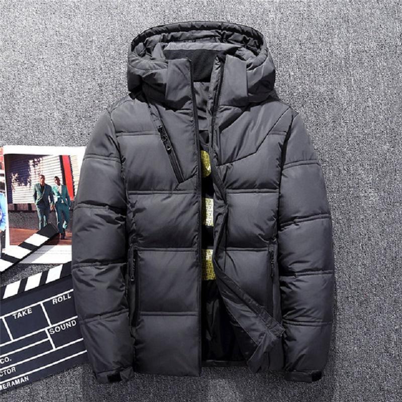 Горячие продажи мужской пуховик толстый с капюшоном ветрозащитный 2018 зимняя куртка мужчины теплый снег пальто повседневная мужская одежда 2018 плюс размер M-3XL