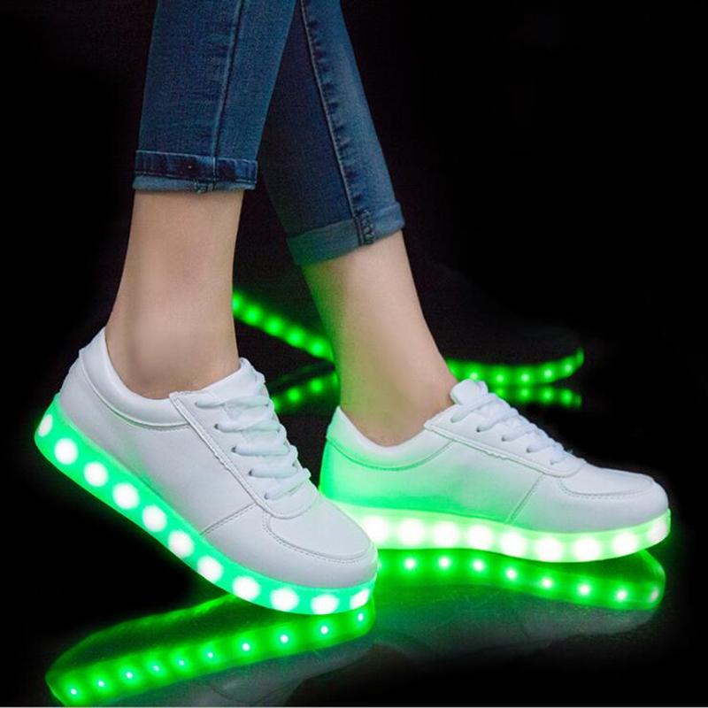 Led Glowing Luminous Sneakers USB Charging Kids Light Up Led Children Shoes With Kids Casual Boys&Girls Shoe enfant