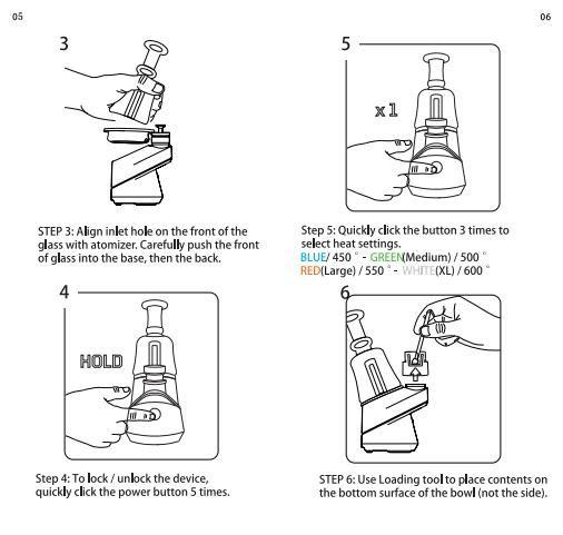 Wax SOC Enail Kit Konzentrat Shatter Budder Dab Rig Wachs vape Kit mit 4 Heizstufen Grad Temperatur mit Keramik Nägel
