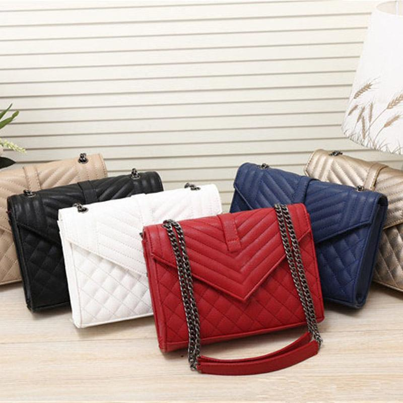 Le nuove donne di moda famoso designer casuale catena Messenger Bag donne Croce Body Bag Handbag Satchel Purse Cosmetic Bags
