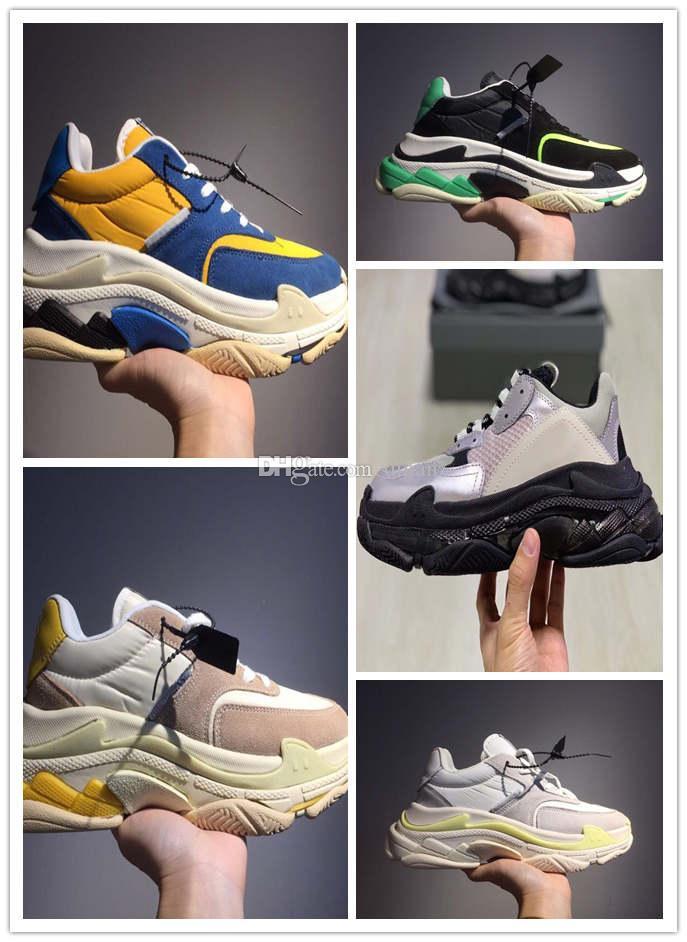 Paris 17FW Triple-S-Walking-Schuhe chaussures femme Triple S Luxus-Plattform-Schuh-Turnschuh-Frauen arbeiten Sneaker Weinlese-Luxus-Trainer