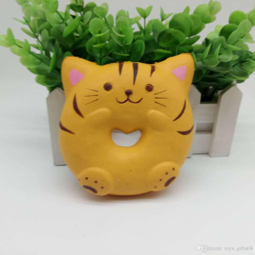 PU giocattolo rimbalzo lento simulazione Squishy simpatico gattino pane panino casa del giocattolo del gioco da bambini giocattolo di decompressione