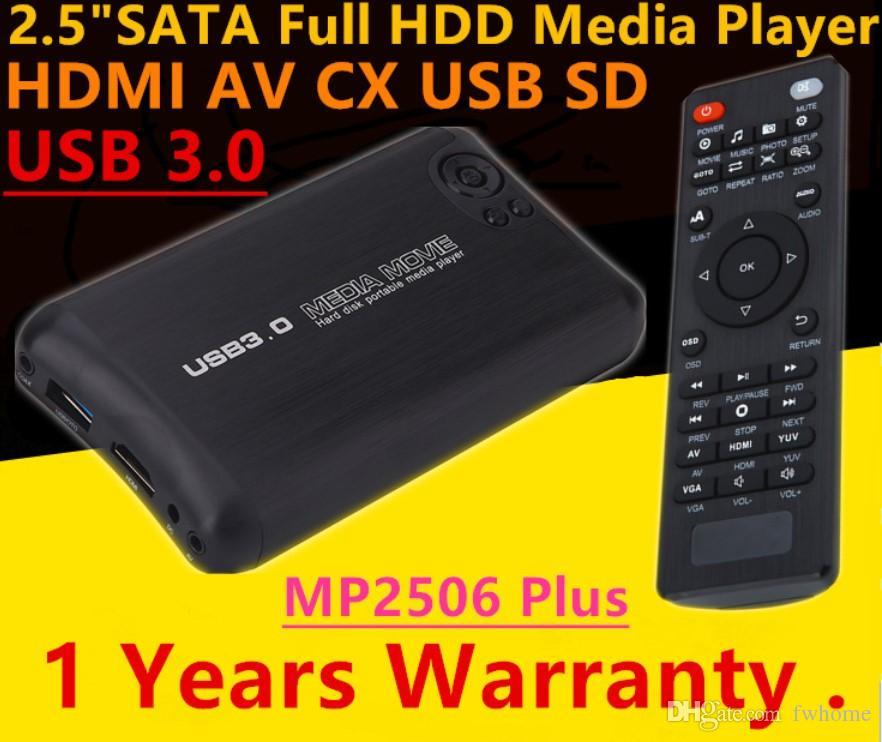 Newest Autoplay USB 3.0 2.5 inch SATA Full HD 1080P Media Player With HDMI/AV/USB/SD/MMC Multimedia Video Advertising Player