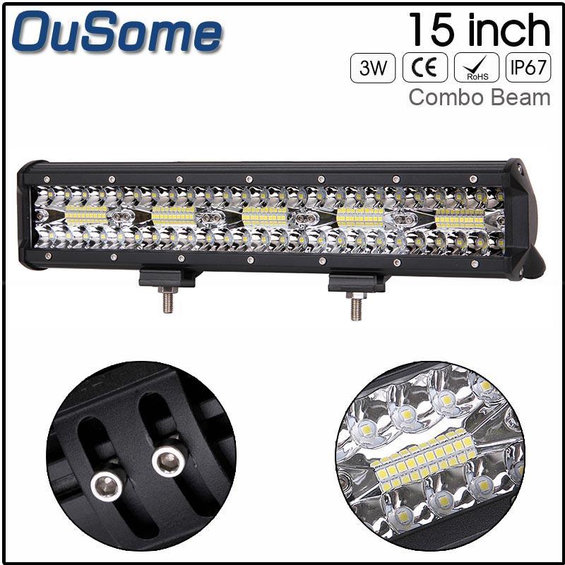7D tri-Reihe 15inch 300W gerade LED-Leiste Combo Strahl Arbeits-Licht-LKW-SUV ATV 4x4 4WD 12V 24V