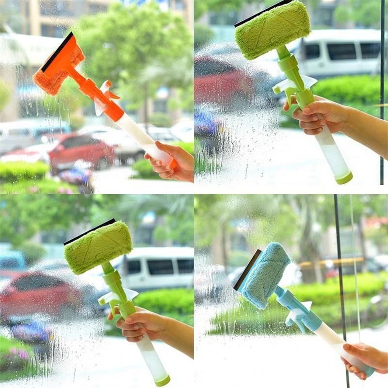 أدوات مواجهة نافذة مزدوجة الأنظف وظائف متعددة زجاج منظفات تأثيث المنزل تنظيف ويندوز فرش جديد وصول 7 15cm وL1