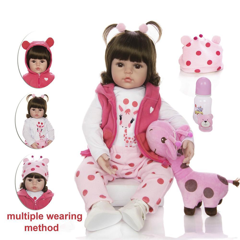 KEIUM ребенка возрождается Menina платья реальный Мягкий силиконовый Reborn детские куклы день рождения подарки мода кукла игрушки приятель жираф