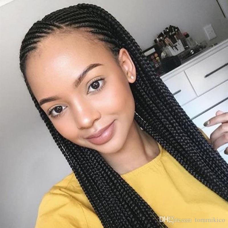 El nuevo estilo de tres trenzado pelucas Dreadlocks sucio peluca sintética del frente del cordón ManufacturersEurope África forman la venta comercial