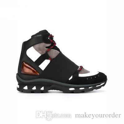 최고 품질의 럭셔리의 desgin 패션 남자 신발은 레이스 업 캐주얼 검은 색과 흰색 빨간색 신발 상자 크기 38 ~ 45과