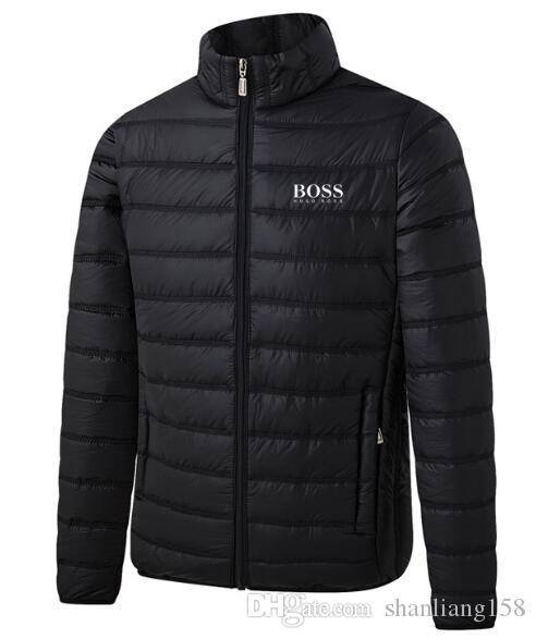 2020 venta caliente para hombre otoño del resorte de chaquetas Thin Slim Fit Algodón Acolchado sólido Color de la camisa con mangas larga de abrigo