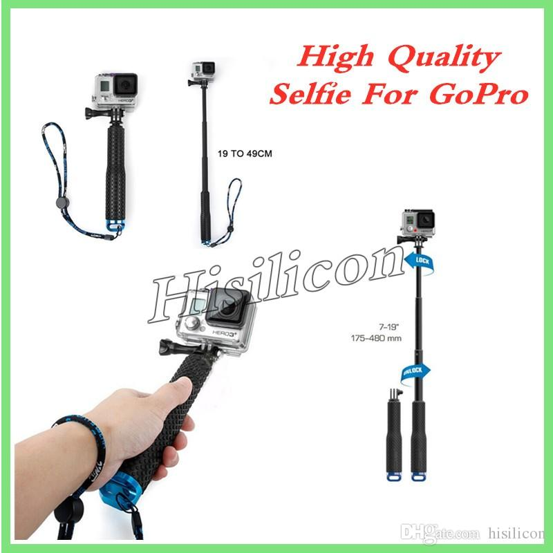High Quality protable GoPro Hero3+ 3 Selfie Stick 4 Colors 95cm 48cm 4 Colors Waterproof Monopod With Retail Package