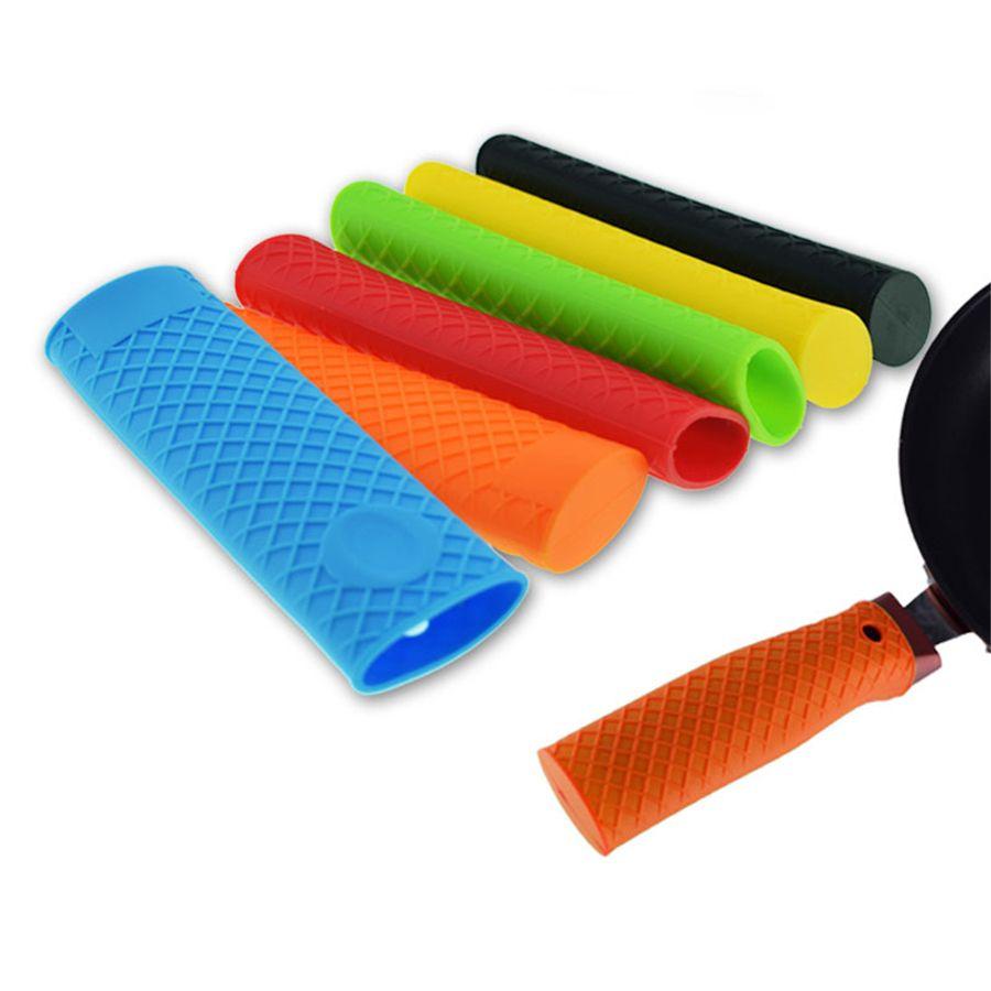 Silicone Pan Pot Un manipolo Casseruola manica termoresistente Strumenti Potholder Stoviglie Parts cucina per Ghisa, Pentole JK2006