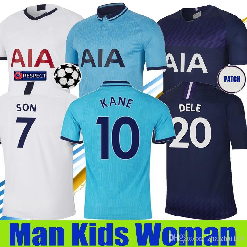 탑 태국 KANE 집을 3 파란색 축구 유니폼 2019 2020 남자 아이 여성 루카스 ERIKSEN DELE 아들 (19) (20) Tottenhames을 축구 유니폼을 박차