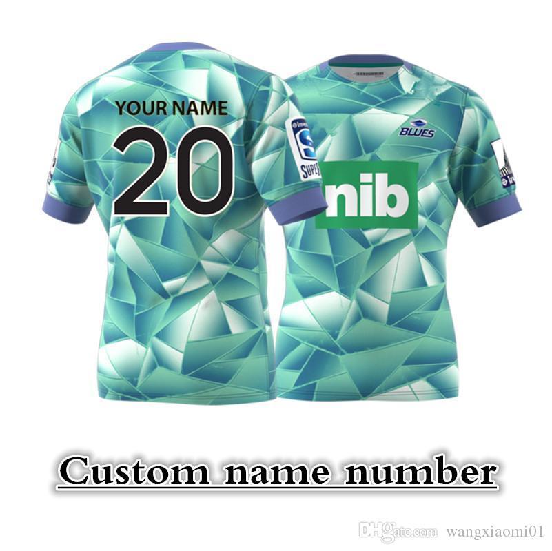 2020 BLUES Super Rugby hogar lejos Jersey de entrenamiento Tamaño: S - XXXL - 5XL nombre de impresión y número de encargo La calidad es perfecta. Entrega gratis