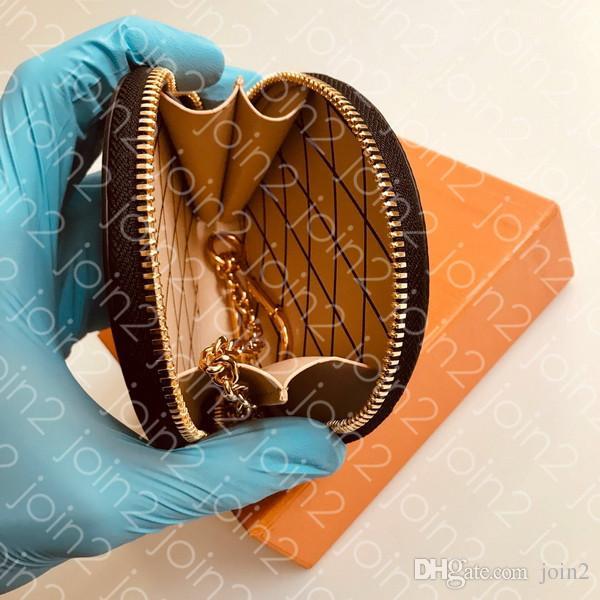 MICRO BOITE CHAPEAU المحفظة ، المرأة الأزياء المدمجة سلسلة محفظة محفظة صغيرة مع هوك لبطاقات الائتمان النقدية مع حقيبة الغبار مربع M63597