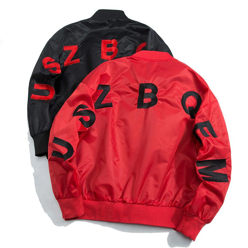 Bomber Volo Via marea degli uomini del rivestimento Maschio pilota giacche da baseball Outwear Mens ricamo cappotto streetwear Hip-hop Tops