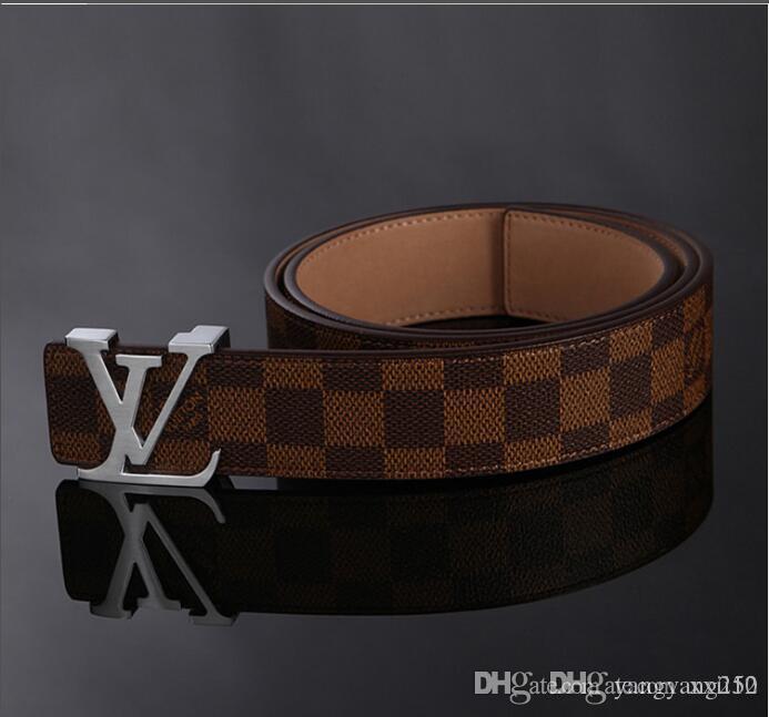 2020 Mens Fashion Belts Designer de Luxo cinto para Cintos Man Marca Cartas Casual suave Buckle Brown Alta Qualidade