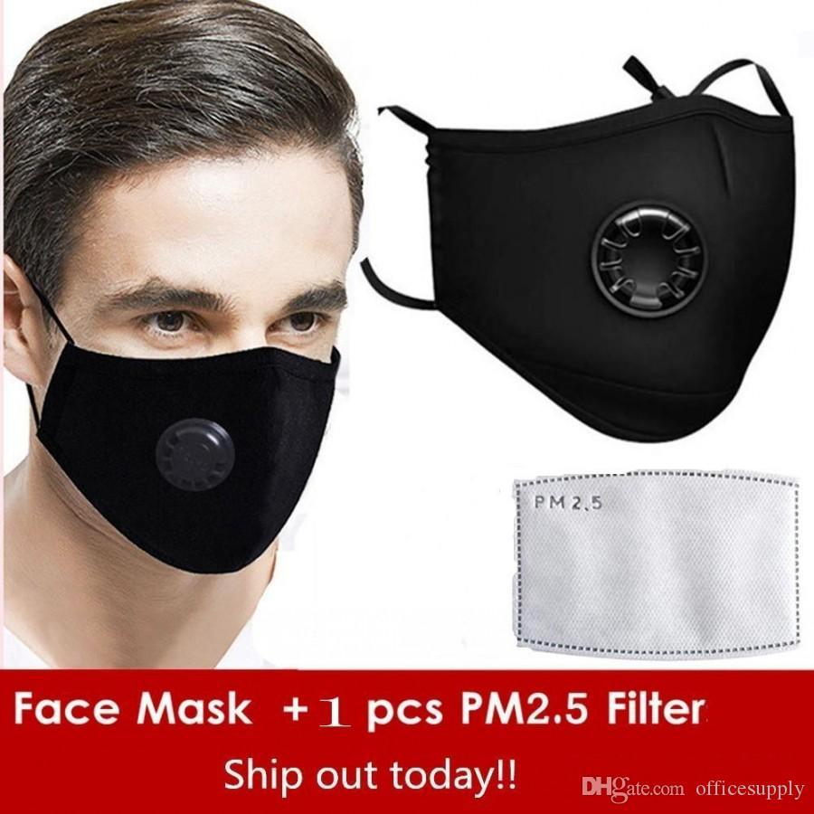 Hergebruikt gezichtsmaskers anti-stof rook outdoor indoor verstelbare herbruikbare bescherming 1 PM2.5 filter mond masker voor vrouwen man
