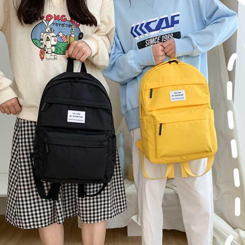 Mochila de viaje de las mujeres mochilas escolares para las niñas adolescentes Mochila Bolsa de hombro 2020 Summer manera a estrenar del ordenador portátil del estudiante femenino