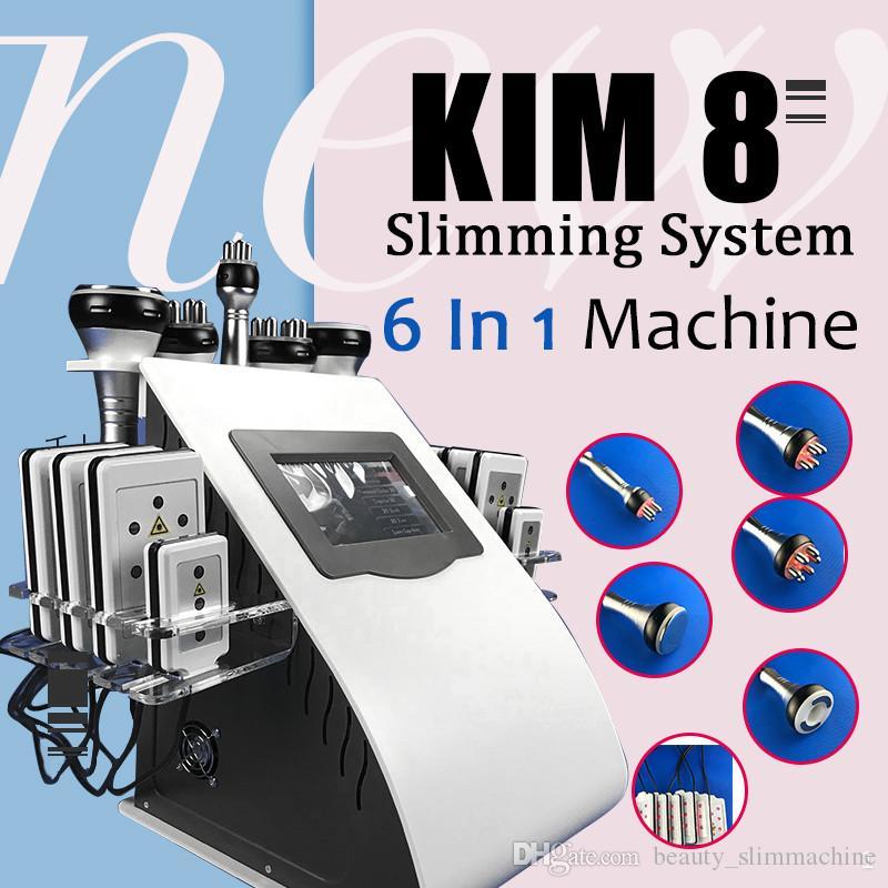 2020 Tragbarer 40k Fett Kavitation Fettabsaugung Ultraschall-Kavitation Vakuum RF Körperformung Gewichtsverlust Lipo Laser Körper schlank Schönheit Machin