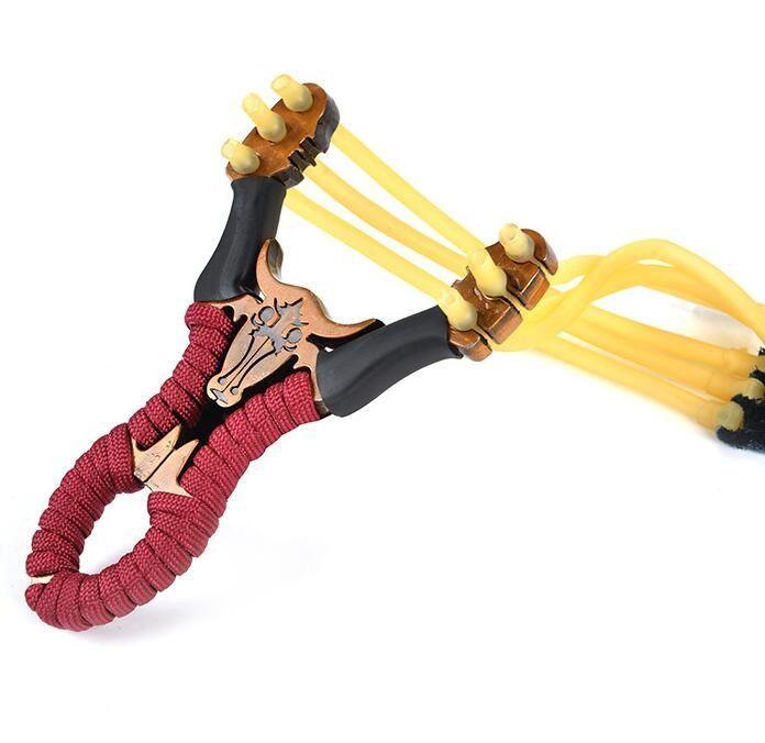 Venda Por Atacado Aço Inoxidável Caçando SlingsHots Skid-Resistive-resistente Sling Potentes Silingas Slingshots Brinquedos Ao Ar Livre Caça Ferramentas de Pesca