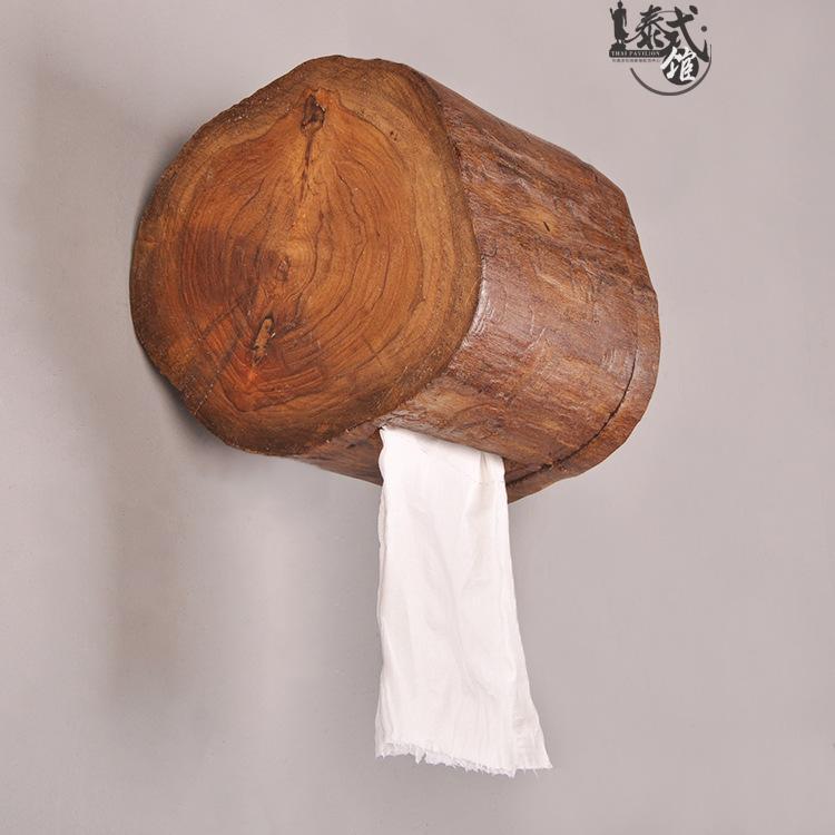 rouleau tubulaire hôtel maison tube serviette en papier en bois massif de papier toilette salle de bains cuisine plateau de tiroir