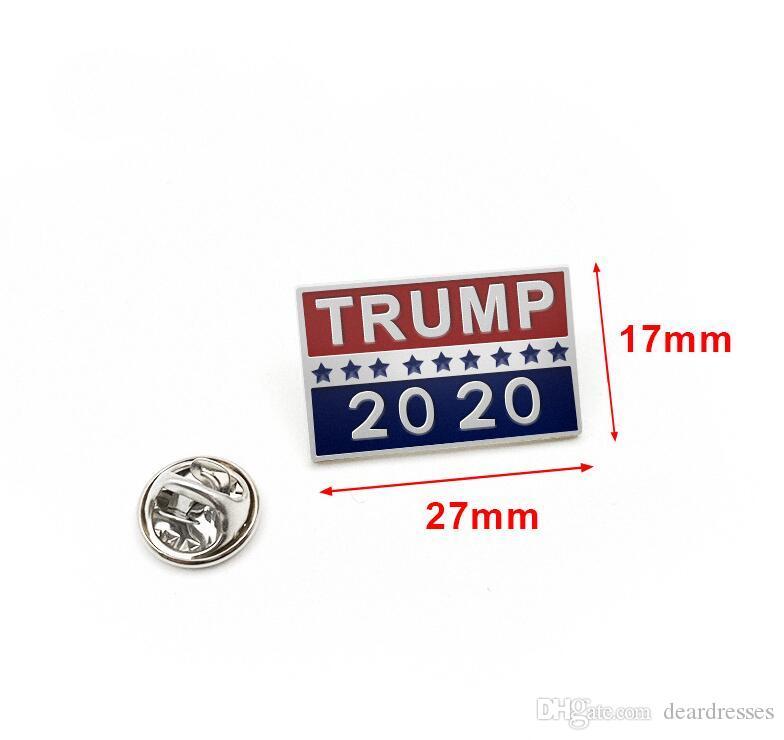 Pulsante gioielli in magazzino Donald Trump Spilla Metal Badge panno Pins presidente degli Stati Uniti campagna delle donne degli uomini i più nuovi