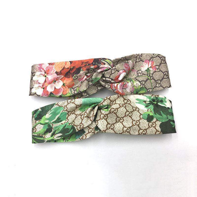 Weiche Hochwertiger Tuch-Kunst-Haar-Band Letters geknotete breite Rand Druck-Haar-Band Mode Einfache Stirnband Weiblicher Haarschmuck