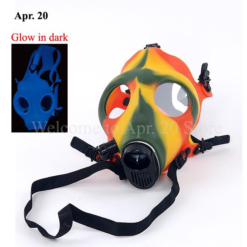 Aydınlık Silikon Maske Glow Karanlık Gaz Maskesi Duman Araçları SP008