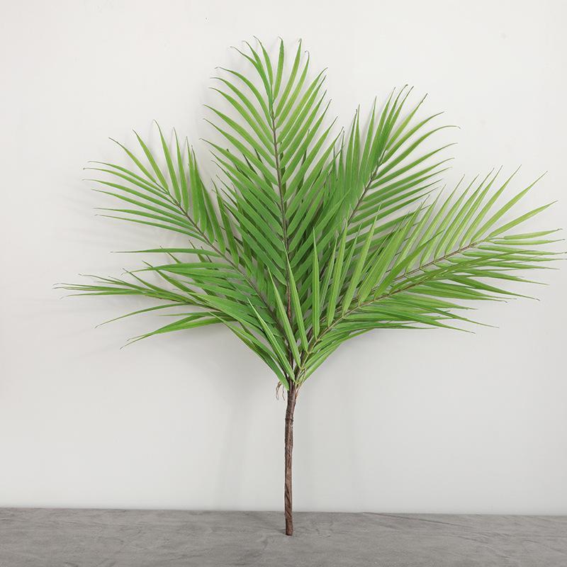 Las plantas de palma para jardín Decoración falsos plantas verdes Rama cubierta al aire libre decoración de la boda artificiales