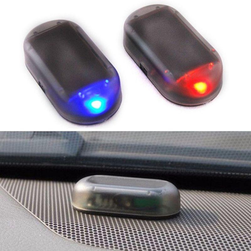 Alarme de voiture Faux de sécurité Faux de sécurité Solaire Solaire Solum Simulé Simulé Avertissement Anti-Thèse Attention Lampe LED Clignotant Imitation
