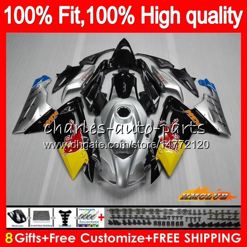 Injektion för Aprilia RS4 RS 125 R RSV125 RS125R RS-125 69HC.14 Silvery Black RS125 06 07 08 09 10 11 2006 2007 2008 2009 2010 2011 Fairings