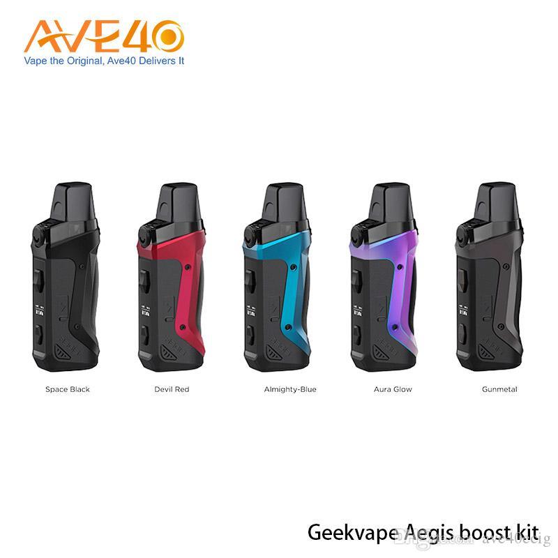 Boost original Geekvape Aegis Kit de alimentación por batería 1500mAh Botas de malla Bobinas 3,7 ml Vacío Aegis Boost Pod