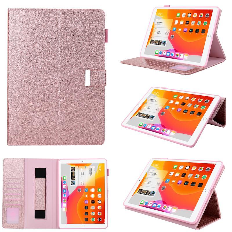 Di cuoio di Bling di lusso per iPad da 10.2 pollici 7th 2019 smart stand Portafoglio Slot per scheda di copertura per iPad Pro 11 (2018) 5 6 7 8 9 Mini iPad 1 2 3 4 5