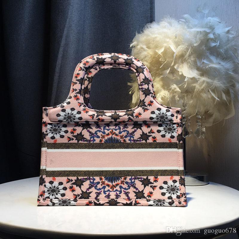 Luxus-Leinwand gedruckt Einkaufstasche Qualitäts Berühmte Designer-Handtaschen-Art und Weise beiläufige Dame Mini Totes Taschen
