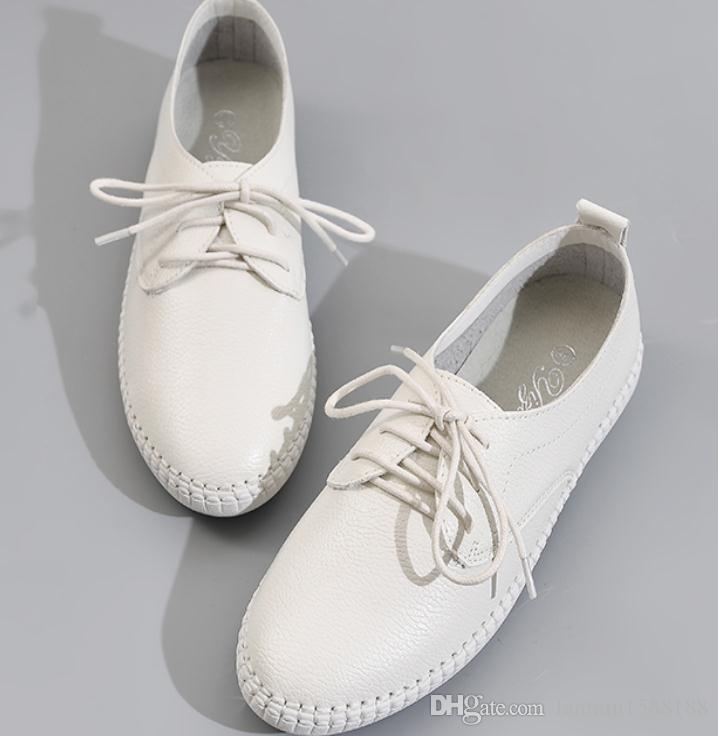 2019 Chaussures femmes au printemps et à l'automne avec tête ronde à fond plat Nouveau style @ 2142