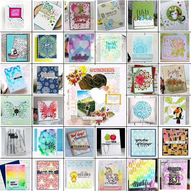 Variety Cutting Dies Stencil DIY Scrapbooking Paper Card Embossing Gifts WE