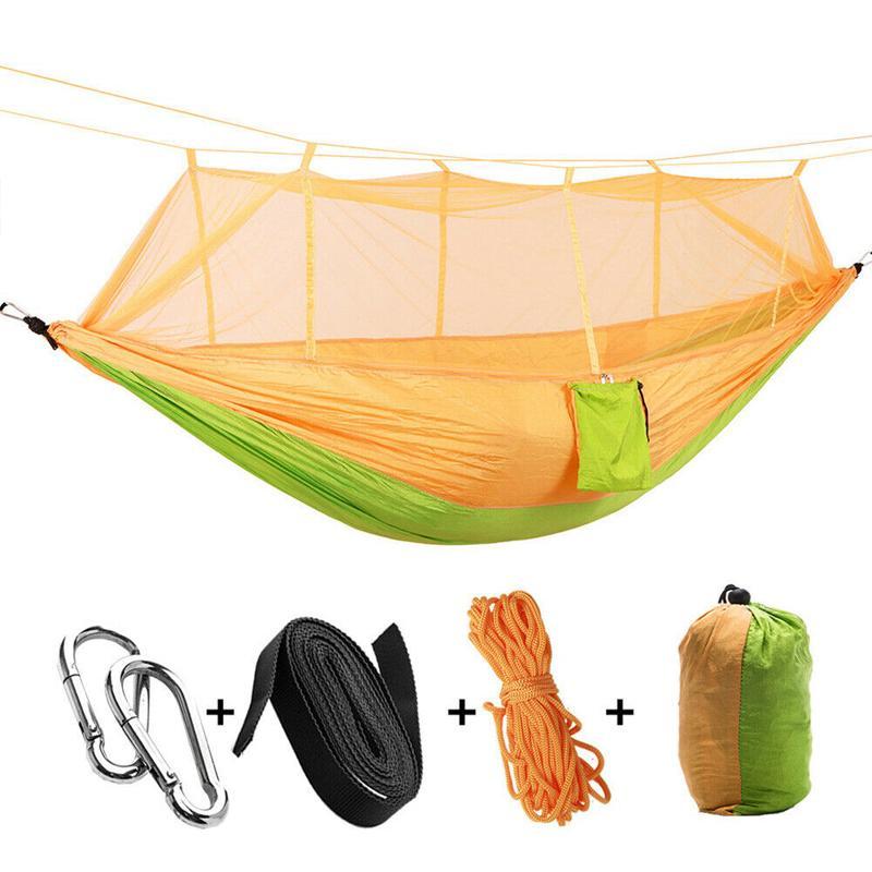 Nouveau extérieur Mosquito hamac Camping Jardin Balancelle Portable Mobilier de loisirs Voyage en nylon Hamac Chasse Dormir Balançoire