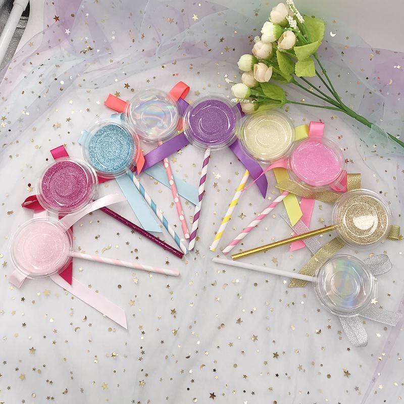 Boş lolipop kutusu farklı renk tüm stil kirpiklerini en çok satan lolipop kutusu özel paketi özel markalı uyacak
