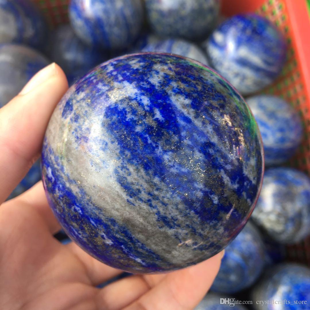 drop shipping 55-60mm Natural lapis lazuli sphere Quartz gemstone sphere meditation reiki healing lapis lazuli crystal ball wholesale