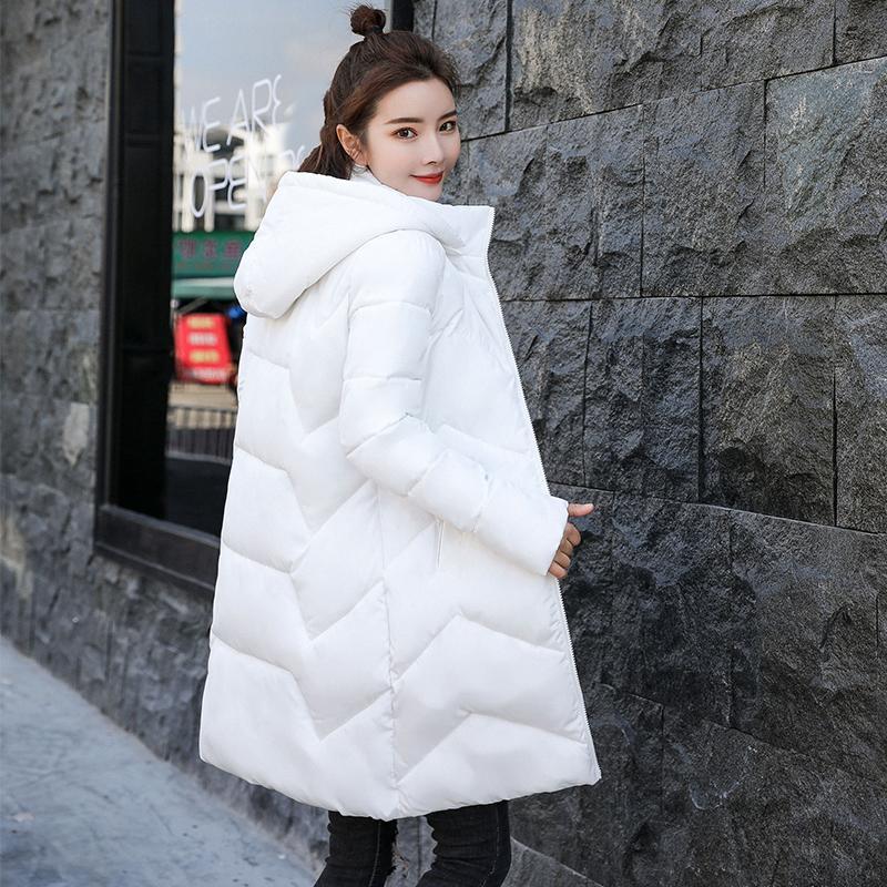 New Parka Women 2019 Winter Jacket Women Coats Hooded Warm Coats Female Parka Thick Cotton Padded Lining Winter Female