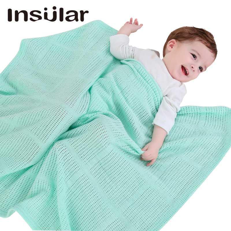 Algodão Recebendo cobertores Bebê recém-nascido Cobertores Swaddling Nursery Enrole Toalha de banho respirável cobertor de malha macia