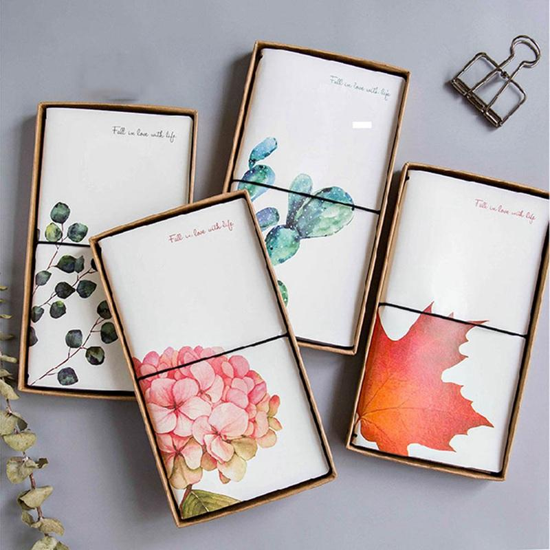Creative Cactus Leaves PU Leather Cover Planner Notebook Diary Book Exercise Composition Binding Note Notepad Gift Stationery
