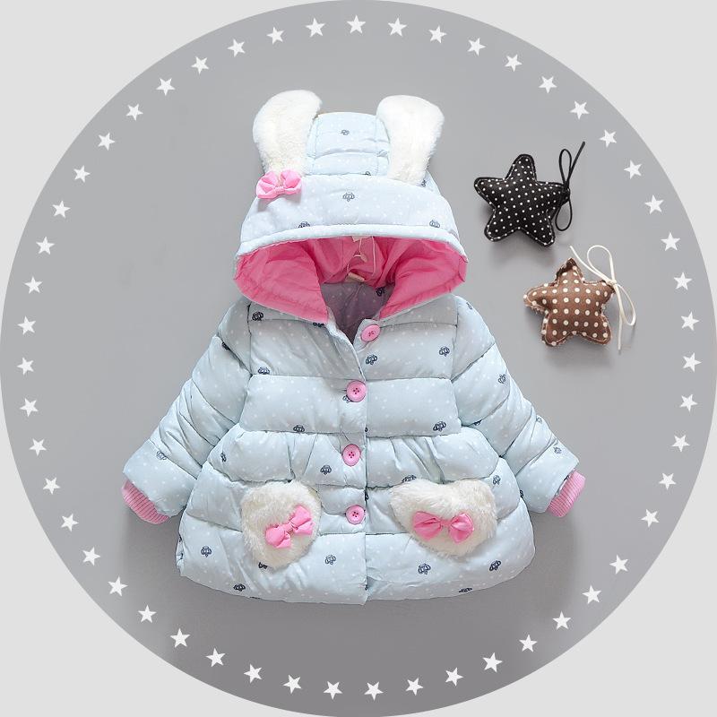 Kız bebekler Ceket 2019 Sonbahar Kış Ceketler İçin Kızlar Coat Çocuklar Sıcak Dış Giyim Palto İçin Kız Çocuk Giyim 1 2 3 Yıl