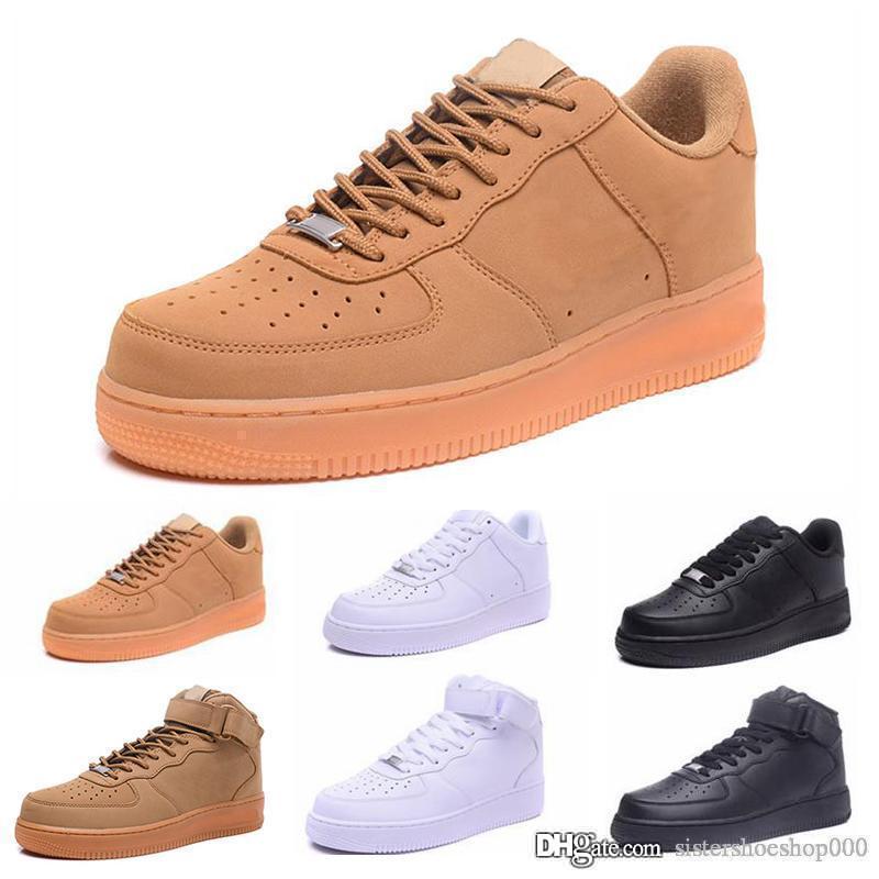 CORK ErkeklerKadınlar Için Yüksek Kaliteli rahat Ayakkabılar Düşük Kesim Tüm Beyaz Siyah Renk Casual Sneakers Boyut ABD 5.5-12 36-46