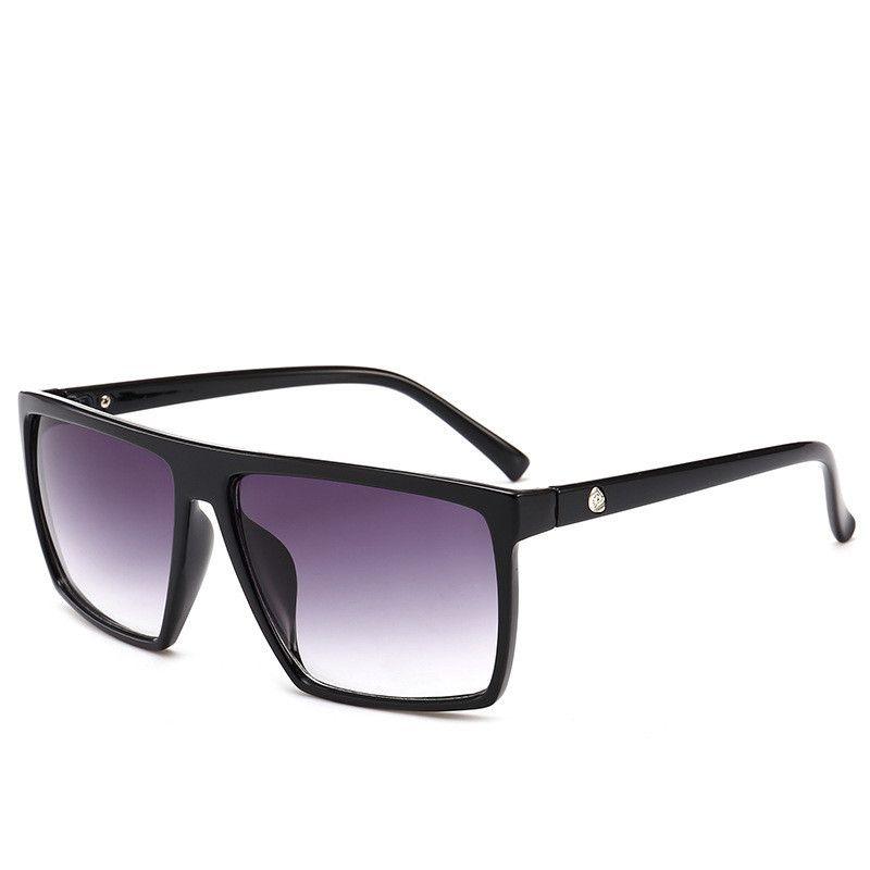 Nuovi arrivi grandi vendite Piazza Sunglass uomini del progettista di marca specchio Photo cromiche Occhiali da sole oversize modo maschio occhiali da sole di trasporto