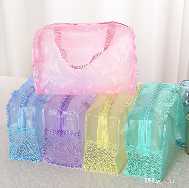 5 Цветов Макияж Организатор Сумка Туалетных Принадлежностей Для Купания Сумка для хранения женщин водонепроницаемый Прозрачный Цветочный ПВХ Путешествия косметичка