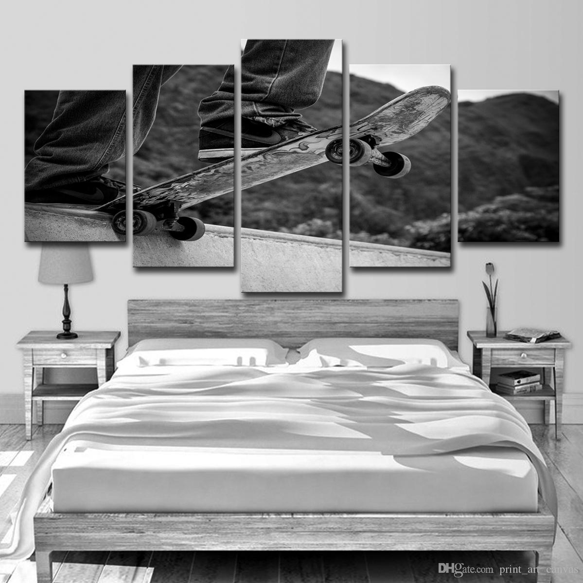 Skateboard  HD Canvas prints Painting Home decor Picture Room Wall art Poster